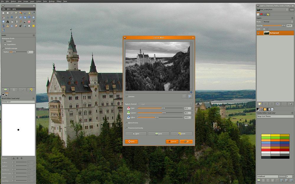 GIMP bildredigering online