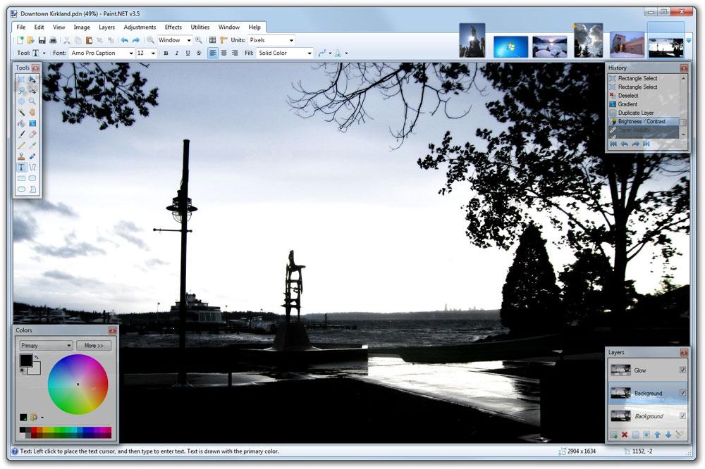 PaintNET redigerar dina bilder online